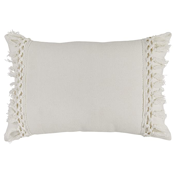 Rivet Modern Macrame Fringe Lumbar Throw Pillow – The Simple, Yet Elegant Throw Pillow