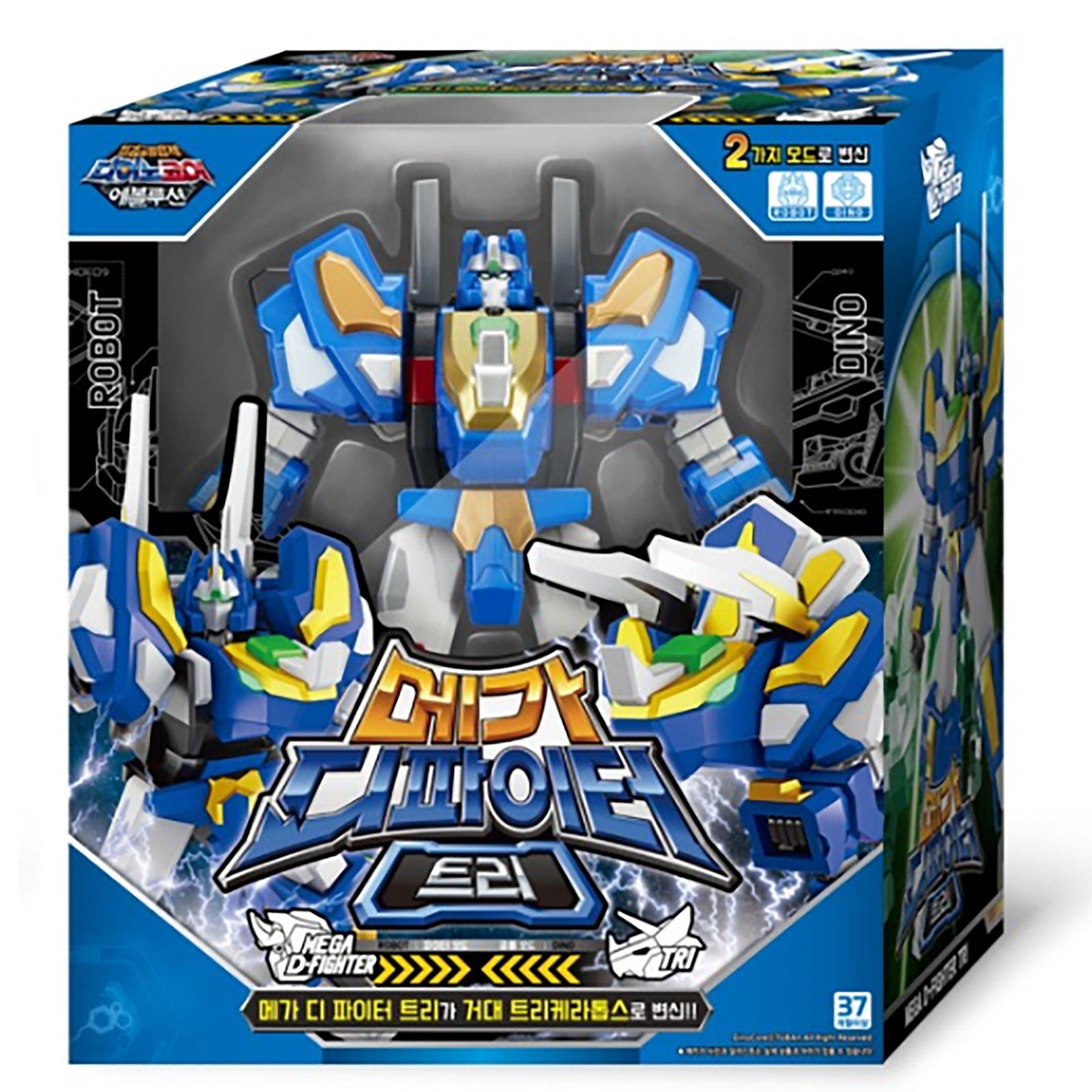 Dino Core Season 4 Evolution Mega D-Fighter TRI Transforming Robot Toy