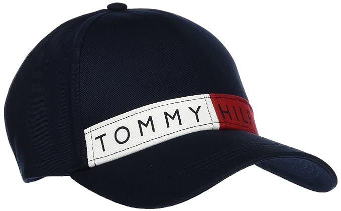 Logo Flag W Baseball Cap, Blue (Sky Captain 413), (Manufacturer Size: One Size) Tommy Hilfiger