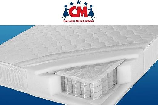 Florence Plus Tonnentaschenfederkernmatratze 80 X 200 Cm Eine Zone Geeignet Für Kinder Und Erwachsene Matratze 80 X 200 Cm