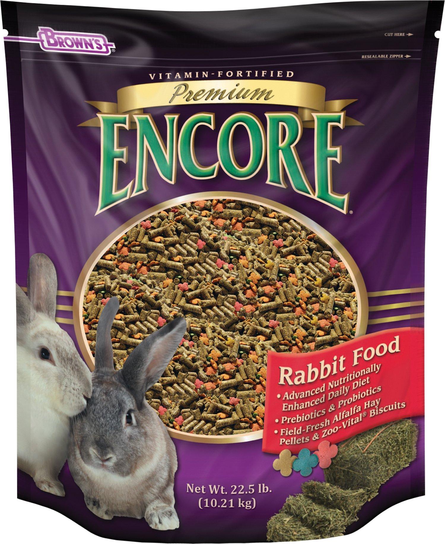 F.M. Brown's Encore Rabbit Food, 22.5-Pound