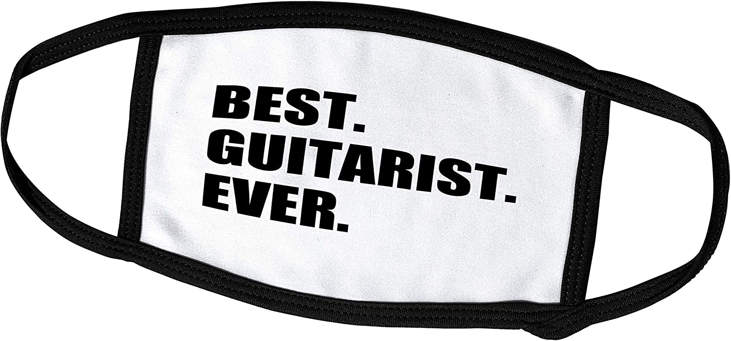 3dRose Best Guitarist Ever - Fun Gift for Talented Guitar Players. - Face Covers (fc_185003_2)