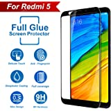 CareFone Screen to Screen Fit 9H Hardness Bubble Free Anti-Scratch Crystal Clarity 5D Curved Screen Guard for Xiaomi Mi Redmi 5 - Black