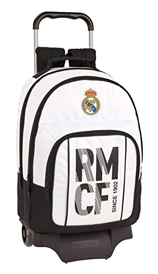 Real madrid cf Mochila Grande Ruedas, Carro, Trolley.: Amazon.es: Equipaje