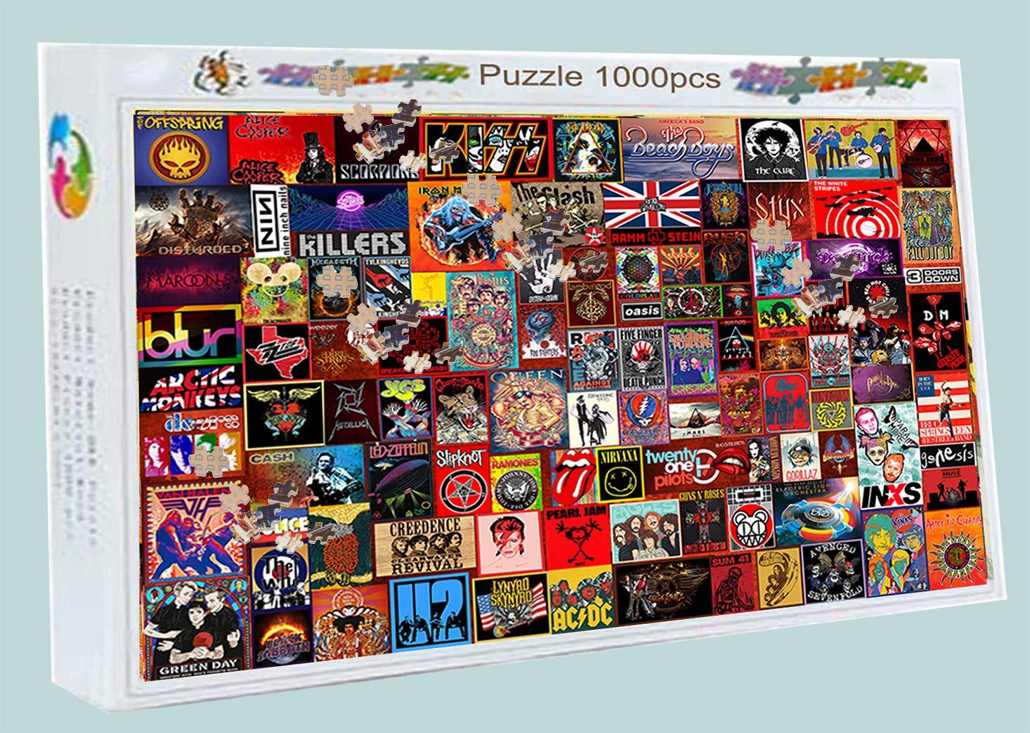 Foxpuz Rock Bands Jigsaw Puzzle 1000 Piece Fun Puzzle for Adult