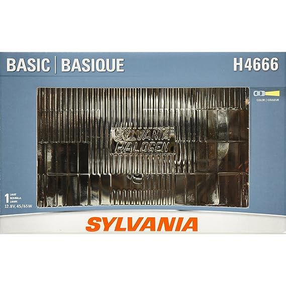 Amazon.com: SYLVANIA H4666 Basic Halogen Sealed Beam Headlight 100x165, (Contains 1 Bulb): Automotive