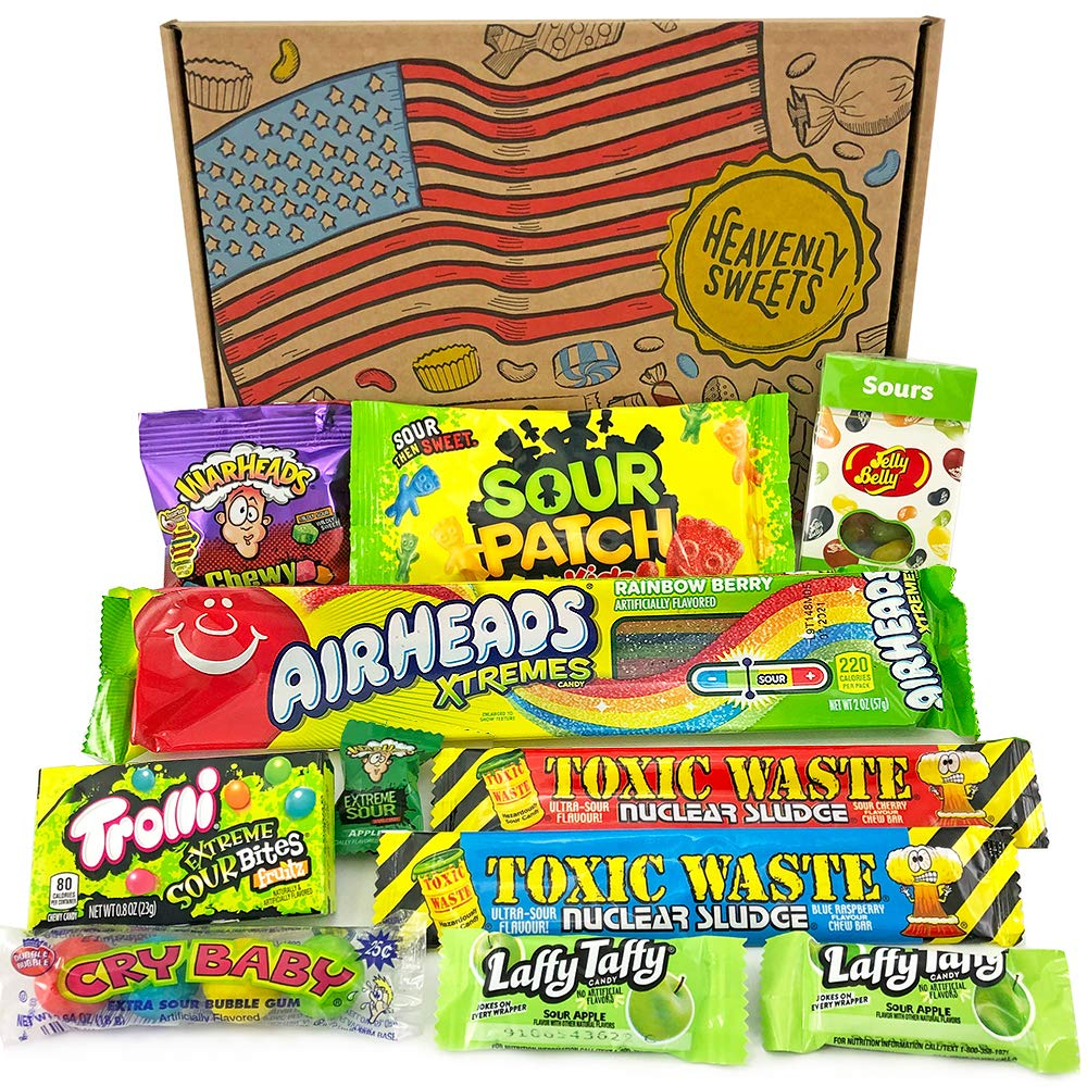 American Sour Candy Party Box Classic Usa Sour Candies Warheads Laffy Taffy Jelly Belly Airheads Perfect Halloween Candy Treats From Heavenly Sweets Uk 25x18x2 5cm Gift Box Size Buy Online In Saudi Arabia