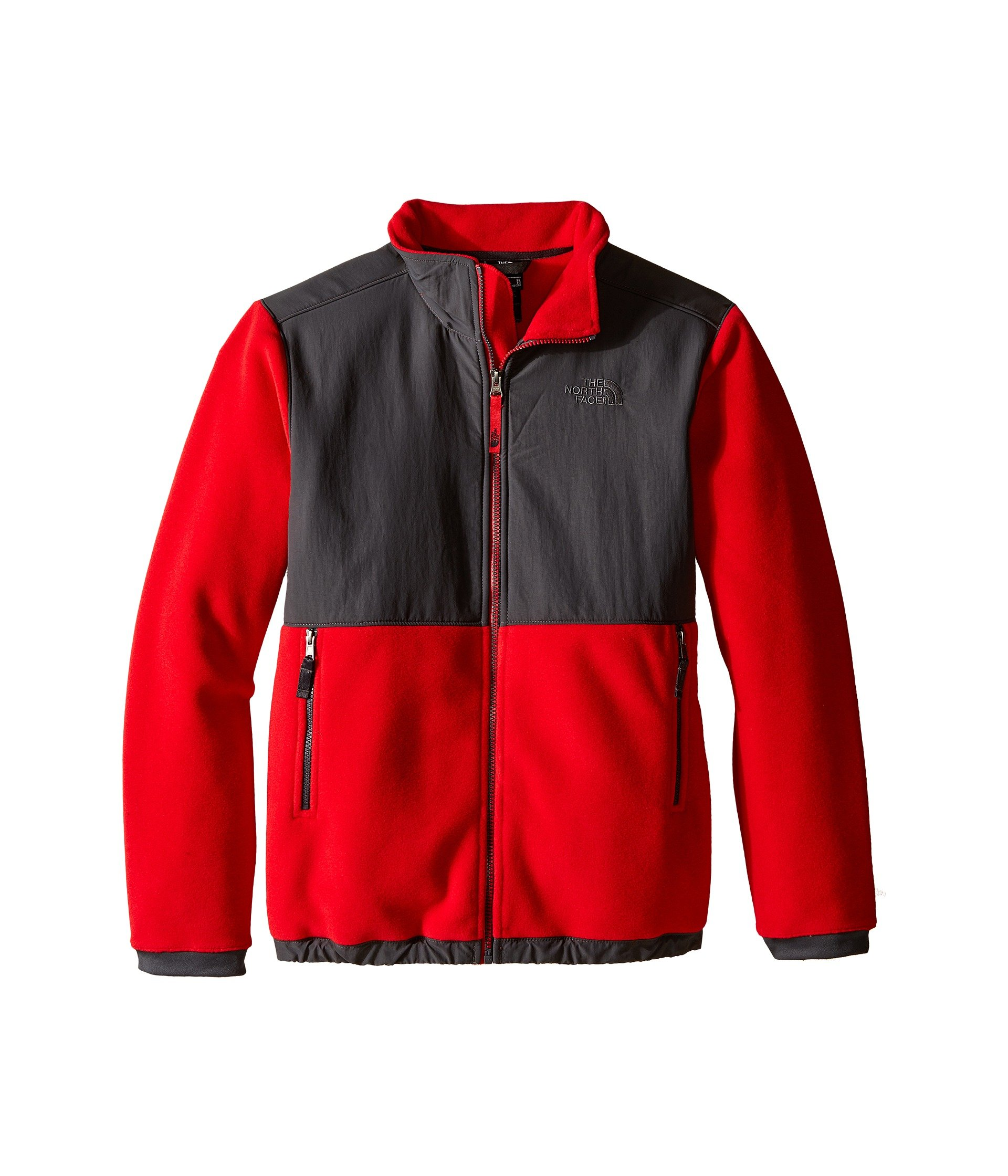 The North Face Denali Jacket Boys' Graphite Grey/TNF Red XX-Small by The North Face