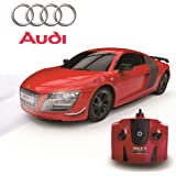 CMJ RC Cars™ Audi R8 GT Sport Official Licensed Remote Control Car for Children and Adults alike with Working LED Lights, Radio Controlled Supercar On Road RC 1:24 Model, RTR, EP White Great R/C Toy for Boys and Girls, 2.4Ghz RACE MORE THAN 10 CARS TOGETHER- Do Not Accept Cheap Imitations. Audi R8 GT Matte Black/ Red (Red)