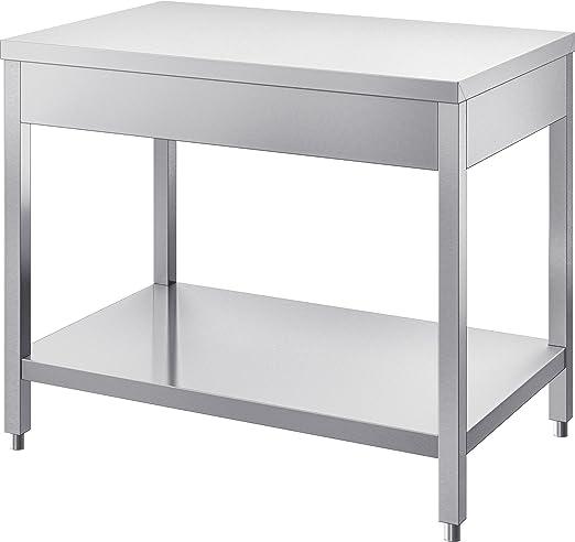 Mag-Lite GAM Gastro - Mesa de Trabajo (Acero Inoxidable, 110 cm de ...