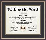 ArtToFrames 20x24 Diploma Frame, Framed in Mahogany and Gold Slope, Diploma-736-89/596-0066-83120-YMAH