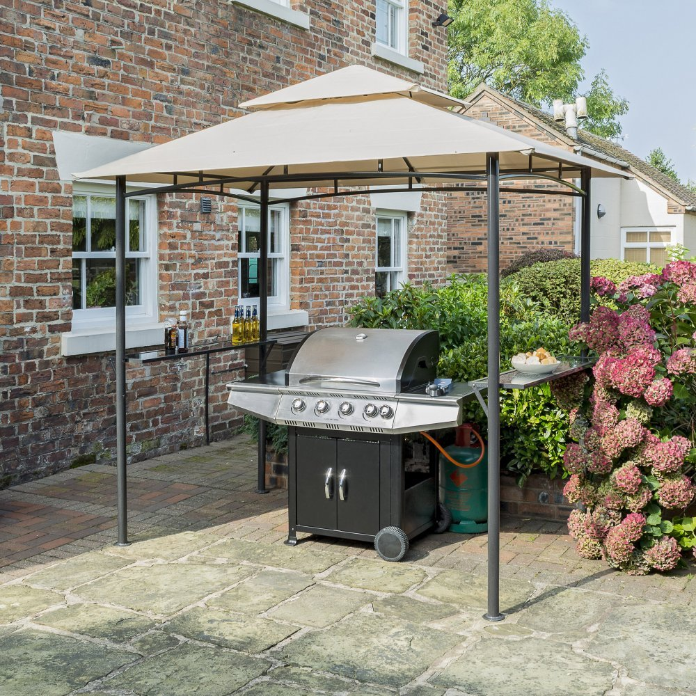 grill shelter bbq gazebo metal cool by asyfreedomwalk outsunny garden awning frame image com canopy model tent on