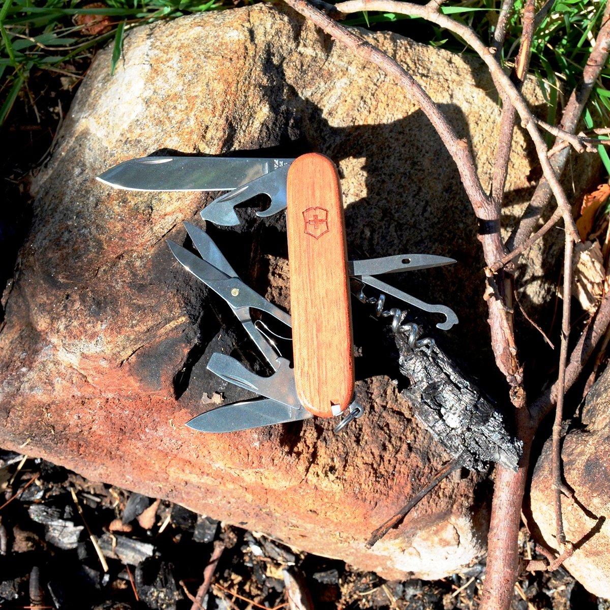 Victorinox Swiss Army Huntsman Pocket Knife, Hardwood,91mm by Victorinox (Image #5)