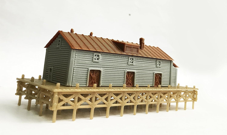 Outland Models Train Railway Layout Waterfront Dockside Warehouse Z Scale