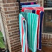 THE ORIGINAL HANGING TOWEL RACK L/&G FSTOW-BL BLACK Float Storage