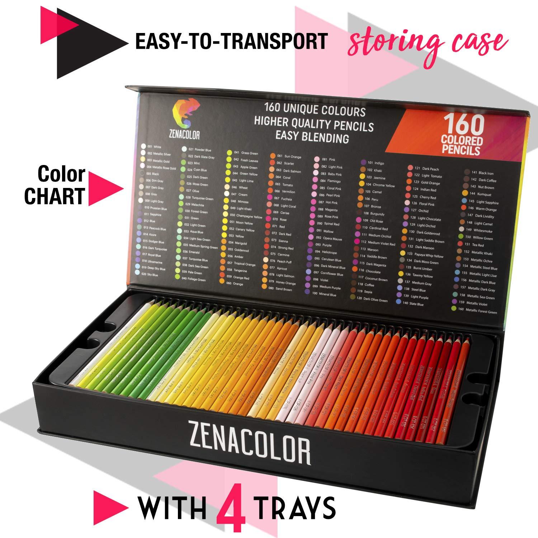 160 Buntstifte Nummeriert Zenacolor Einfache Aufbewahrung