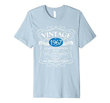 00e11e698 Mens Vintage 1967 50th Birthday Premium T-Shirt Funny Gift Tee 2XL Baby Blue