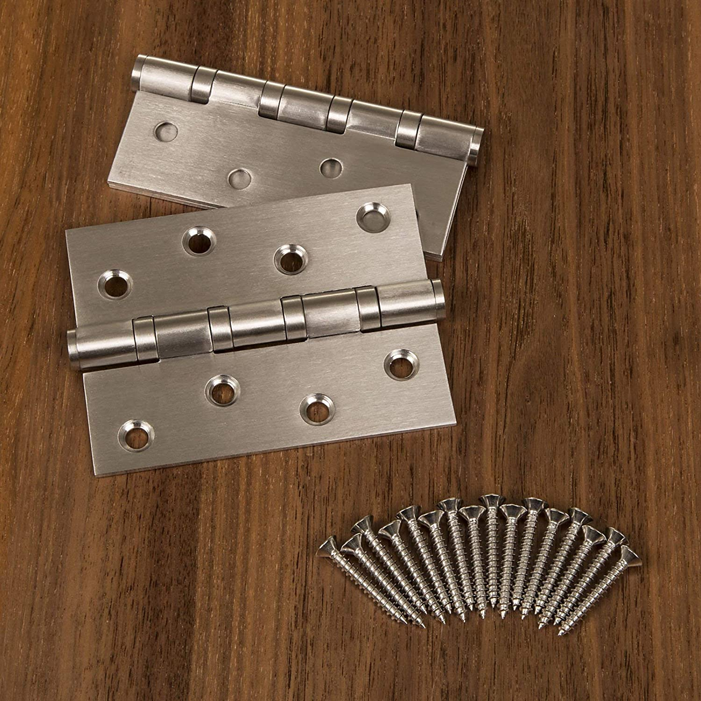 101 x 76 mm//Espesor del material 2,5 mm 2 piezas SO-TECH/® 101 mm Bisagra de Puerta Acero Inoxidable Rodamiento de bolas con Tornillos de Acero Inox//Capacidad de carga 60 kg 2 Tama/ños