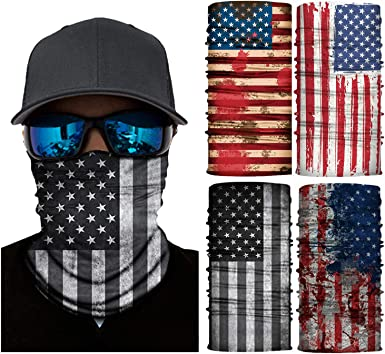 TRAILSIDE SUPPLY CO 4-Pack Seamless Face Mask//Mouth Cover//Bandanas//Neck Gaiters