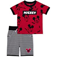 Mickey Mouse Short Sleeve Shirt and Shorts Outfit Set for Babies and Toddlers (5T) Red