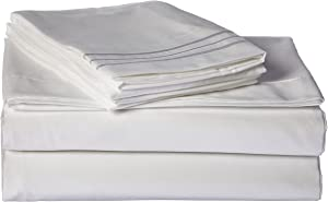 Sweet Home Collection Supreme 1800 Series 4pc Bed Sheet Set Egyptian Quality Deep Pocket - King, White