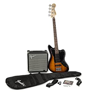 Fender Squier Jaguar Short Scale Bass Guitar Pack