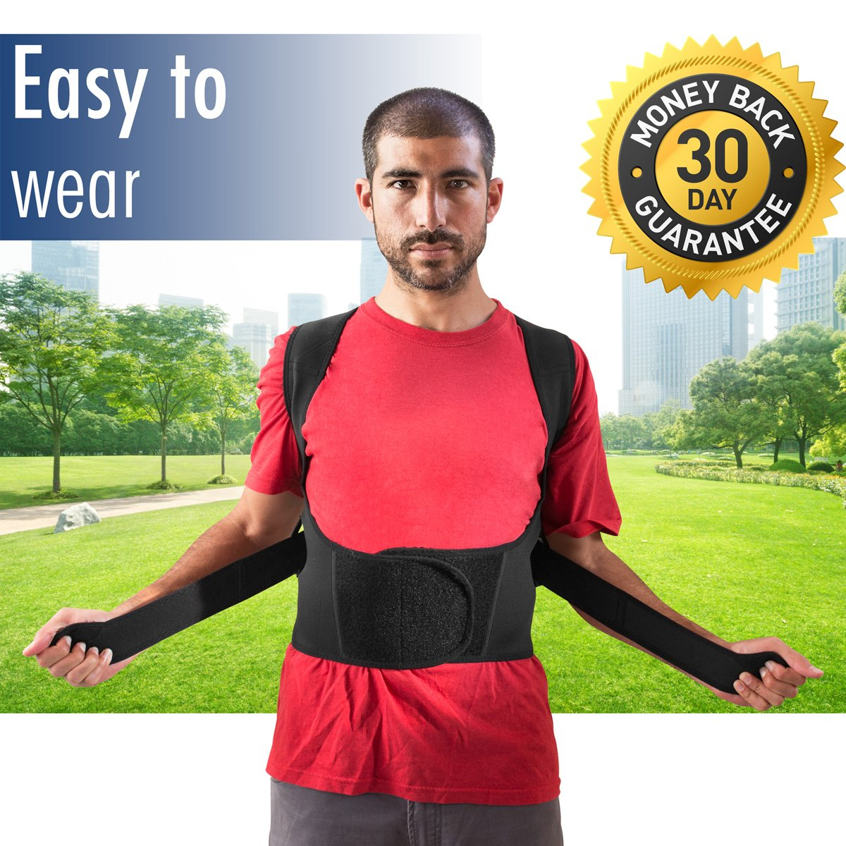 THE ULTIMATE Posture Corrector for Women & Men Under Clothes   Effective & Comfortable   Back Brace for Slouching & Hunching -Shoulders Clavicle Support   Upper & Lower Back Supports   Body Therapy by TK Care Pro. (Image #7)