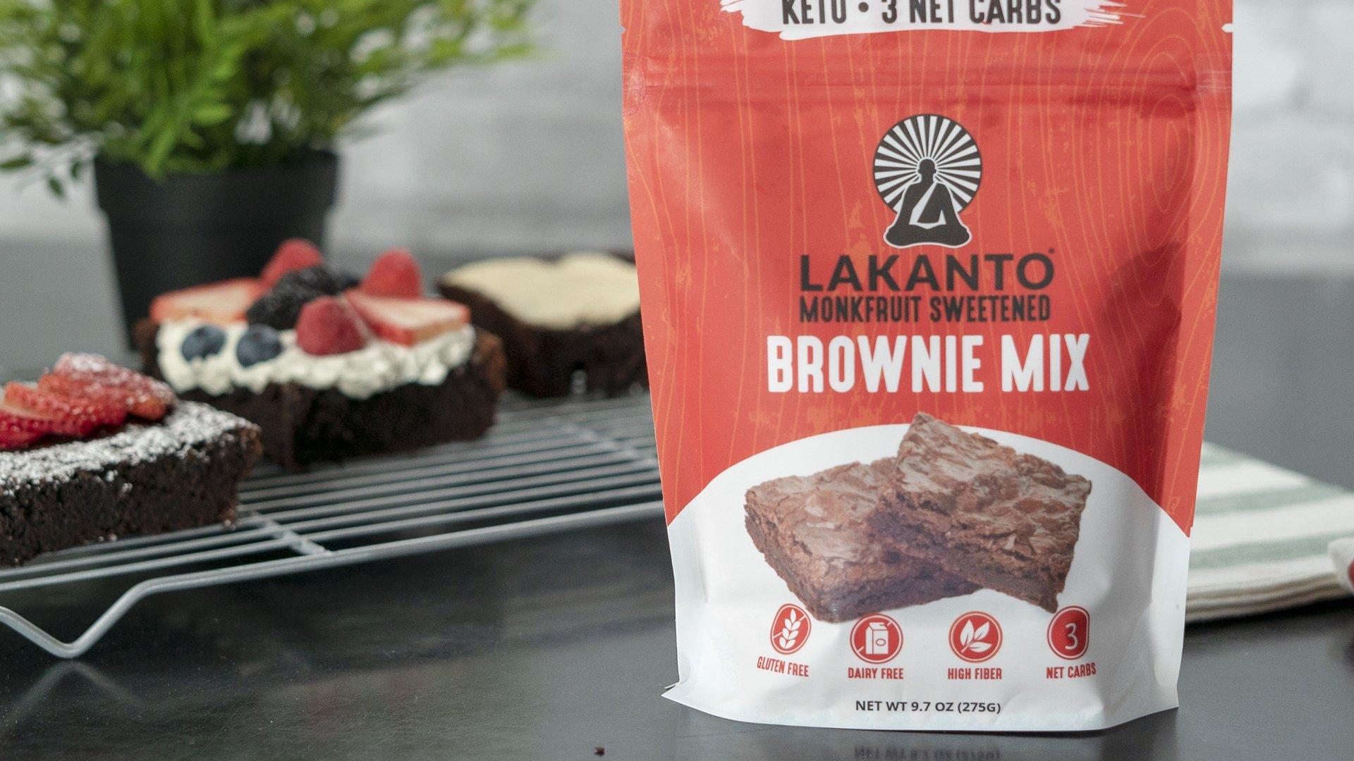 Lakanto Sugar-Free Brownie Mix | 3 net carbs | (Gluten-Free, 16 Servings) by Lakanto (Image #7)