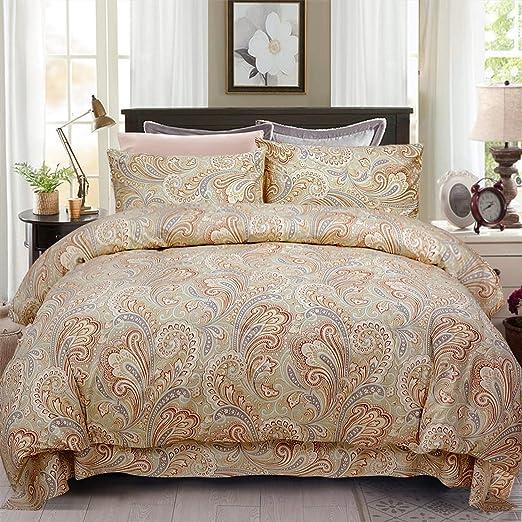 Multicolour Floral Super King Size Bedding Set Duvet Quilt Cover /& Pillowcases