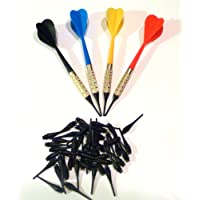 Pro de plástico para dardos de punta blanda, Lote de 12 varios Colors Plus 50 consejos adicionales