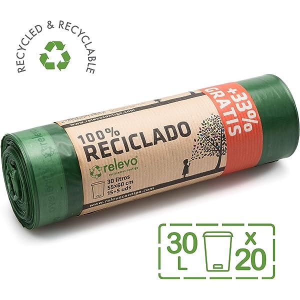 Bolsa de basura ecológica 100% biodegradable BIOARK, 10 litros ...