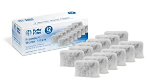 Fette Filter - Charcoal Water Filter Pods Compatible with KitchenAid Coffee Maker KCM11WF (12-Pack)