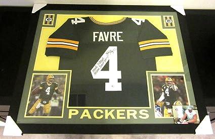 huge discount 39324 2063b Autographed Brett Favre Jersey - Framed Matted Greenbay ...