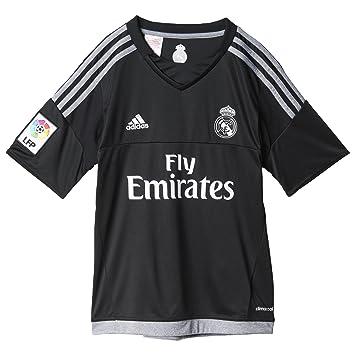 f8cfc250bb1da Adidas Equipación Real Madrid CF - Camiseta oficial adidas de portero para  niños