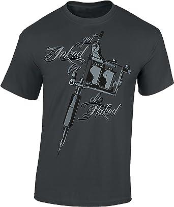 Camiseta: Get Inked Or Die Naked - Tattoo - Tatuaje/T-Shirt Unisex ...