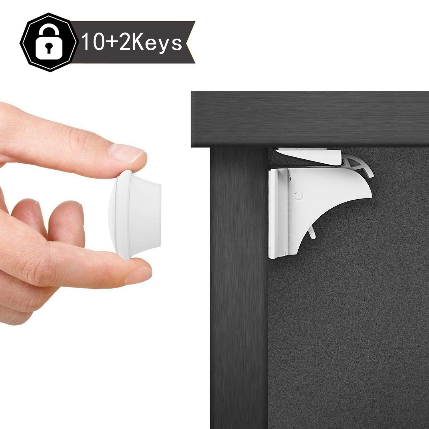 Amazon.com  Dokon Child Safety Magnetic Cupboard Locks ( 10 Locks + 2 Keys) No Tools Or Screws Needed Baby Safety Locks for Cabinets and Drawers ...  sc 1 st  Amazon.com & Amazon.com : Dokon Child Safety Magnetic Cupboard Locks ( 10 Locks + ...