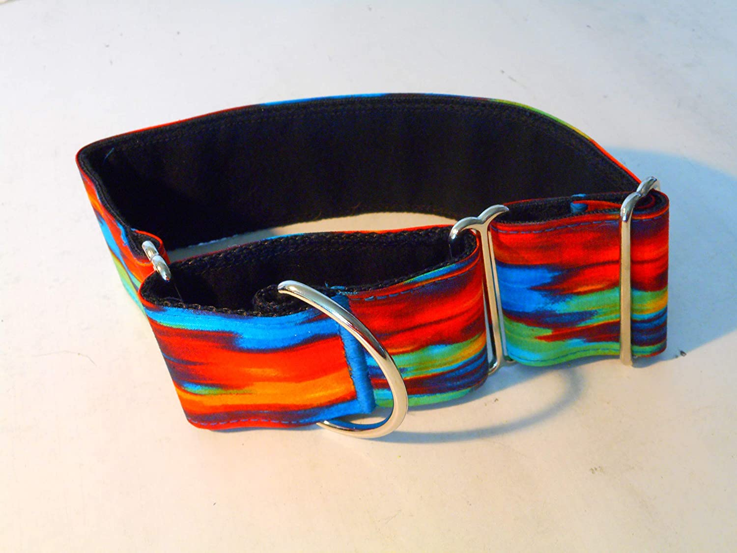 After the Storm 2 Inch Wide Custom Made Martingale Dog Collar