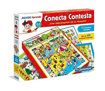 Clementoni - Conecta Contesta, juego educativo (653805): Amazon.es: Juguetes y juegos