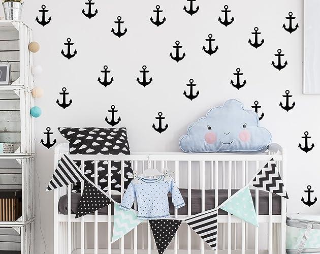 Anchor Wall Decals Nursery / Nursery Wall Decal. Nautical Nursery Wall  Decal Stickers. Wall