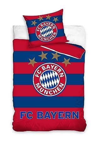 Fc Bayern München Bmfc171003 Fußball Bettwäsche Football Club Bed Linen 135x200 Cm 70x80 Cm