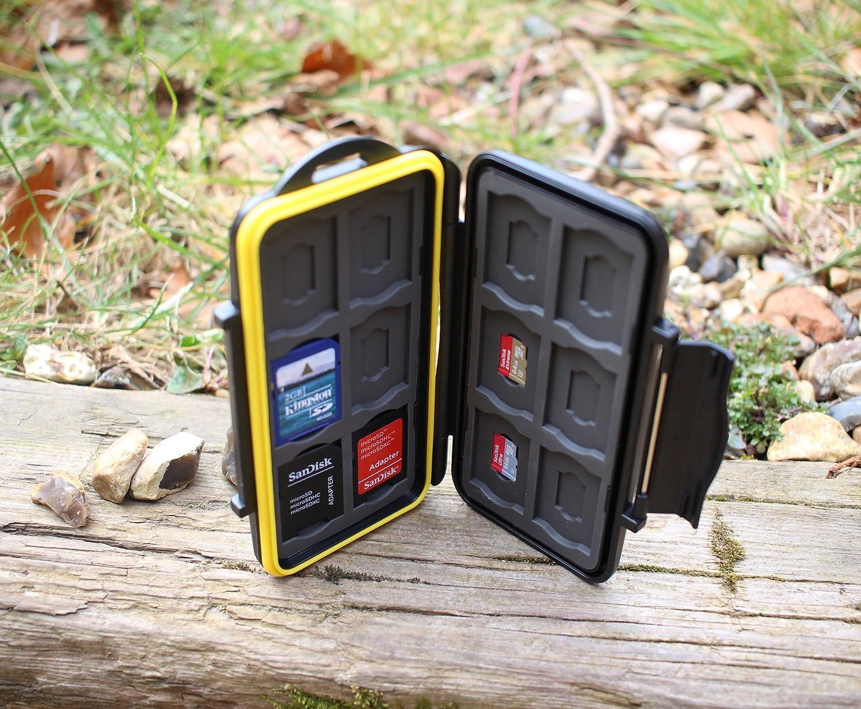 /Joint /étanche en Caoutchouc Deyard K020//Étui de Transport /étanche antichocs pour Cartes m/émoire24/emplacements pour 12/Cartes SDHC//SDXC et 12/Cartes Micro SD/