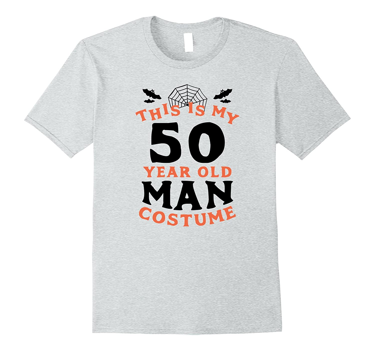 50 Year Old Man Costume - Funny Men's Halloween T-Shirt-T-Shirt