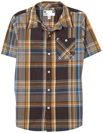 b0b0358b6 Dc Apparel - Big Boys' Foss Short Sleeve Shirt, After Dark, X-Large:  Amazon.in: Clothing & Accessories