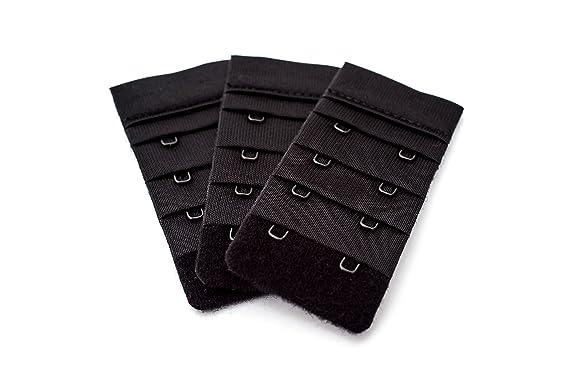30610beb35 3 Piece pack of black bra extenders - 2 hook narrow