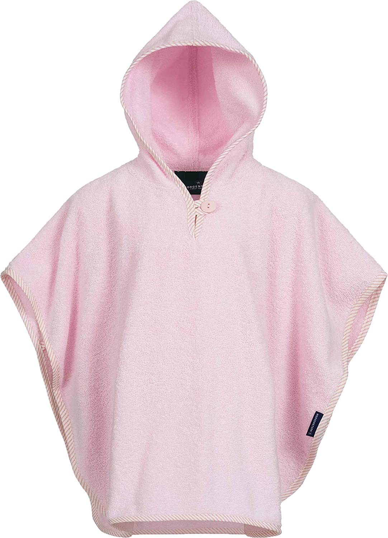 100/% algod/ón Morgenstern Poncho Infantil con Capucha X-Small Rosa