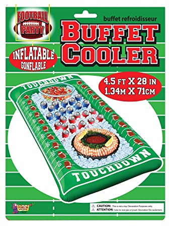 Inflatable Buffet Cooler Football Field Tailgate Party Touchdown Snack  Serving