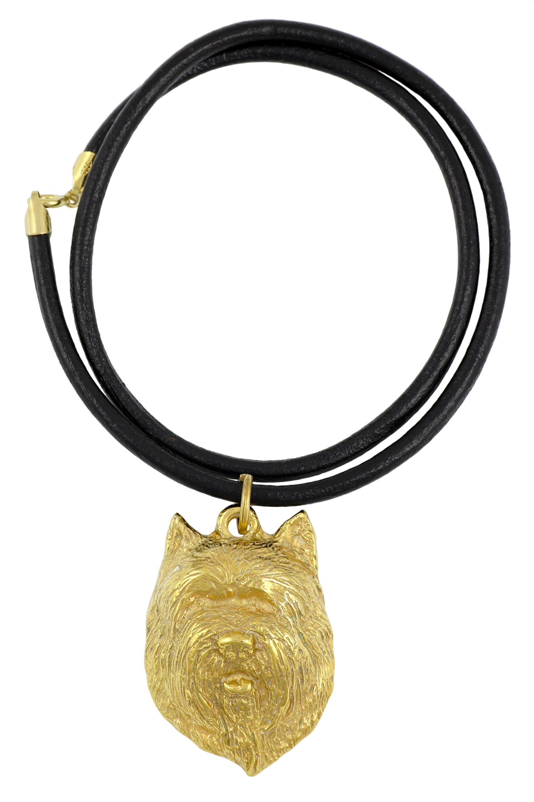 Cairn Terrier (Muzzle), Millesimal Fineness 999, Dog Necklaces, Limited Edition, Artdog