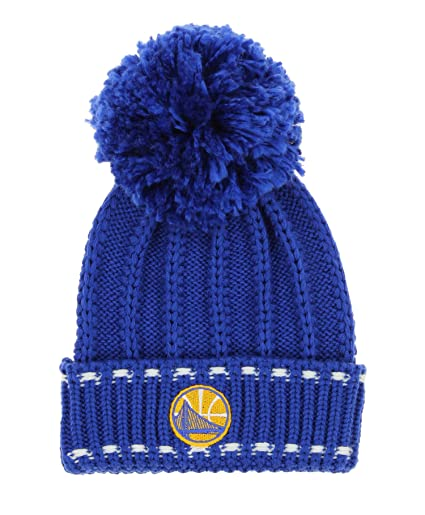 16a9734ac7f Image Unavailable. Image not available for. Color  NBA Women s Golden State  Warriors Cuffed Pom Knit Hat ...