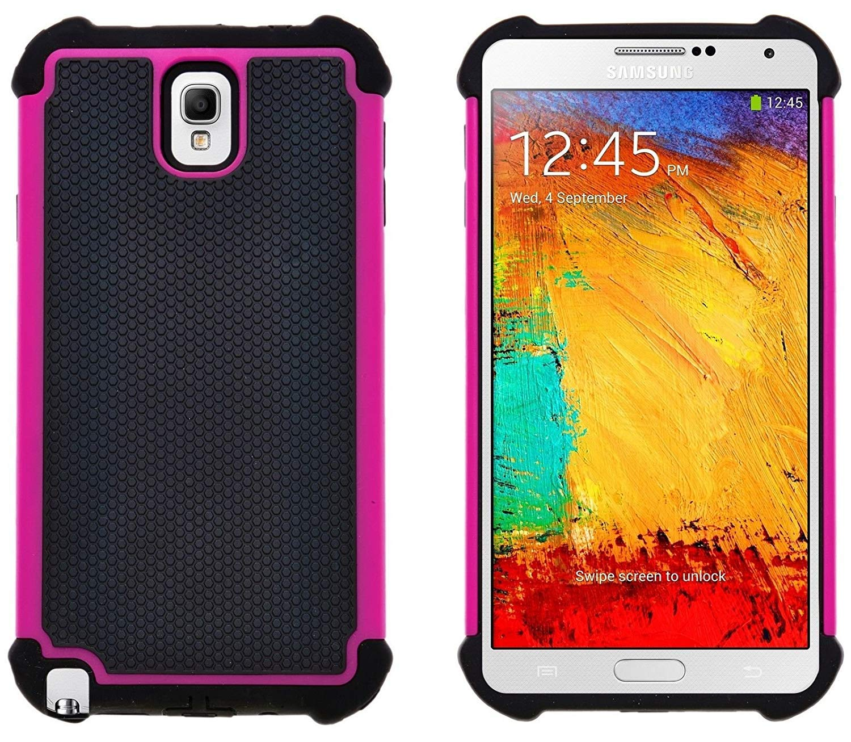 G-Shield Funda para Samsung Galaxy Note 3, Carcasa Protectora y Anti-Arañazos, Rosa