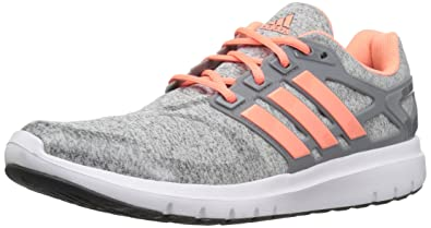 adidas Performance Women's Energy Cloud V Running Shoe, Medium Heather Grey/Sun  Glow/